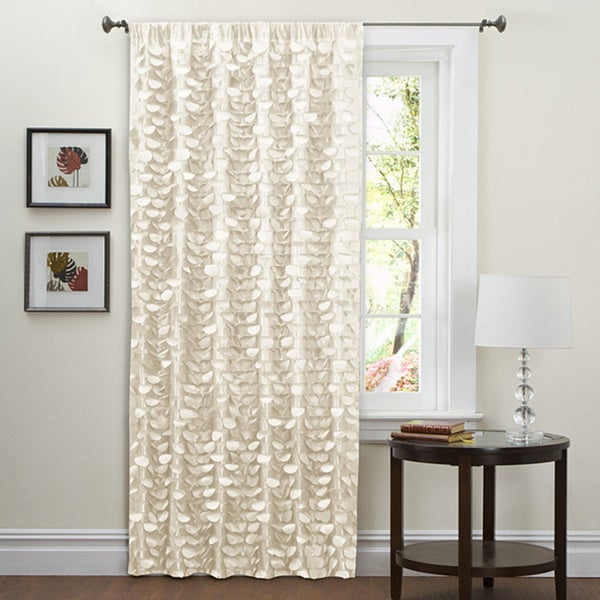 Lush Decor Beige 84-inch Lilian Curtain Panel
