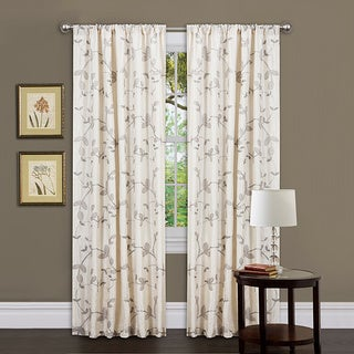 Lush Decor Beige 84-inch Garden Suite Curtain Panel
