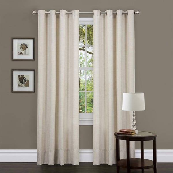 Lush Decor Beige 84-inch Classique Curtain Panels (Set of 2)