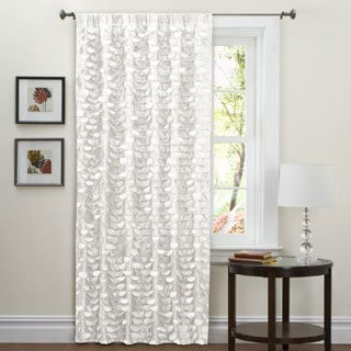 Lush Decor White 84-inch Lilian Curtain Panel
