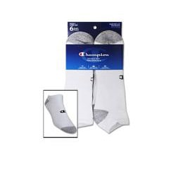 Champion Men's 'Performance' White Low-cut Socks (6 Pairs) - Thumbnail 1