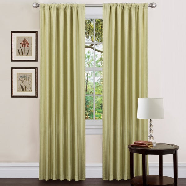Lush Decor Celery 84-inch Luis Curtain Panels (Set of 2)