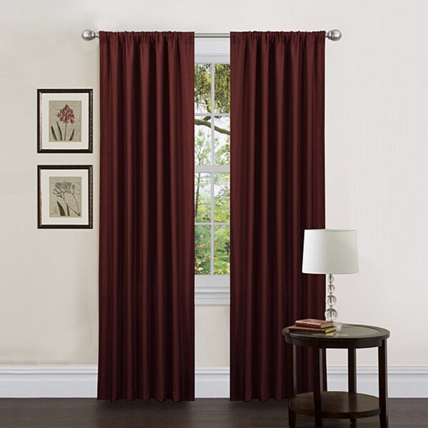Lush Decor Red 84-inch Luis Curtain Panels (Set of 2)