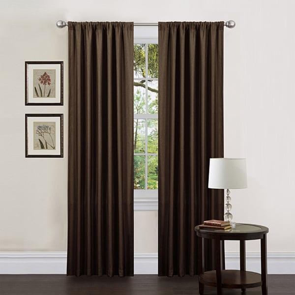 Lush Decor Brown 84-inch Luis Curtain Panels (Set of 2)