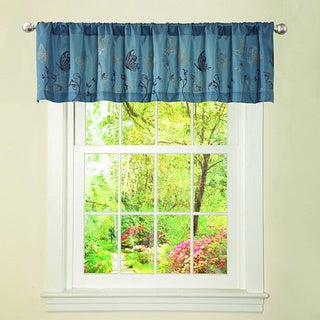 Lush Decor Blue/ Brown Butterfly Dreams Valance