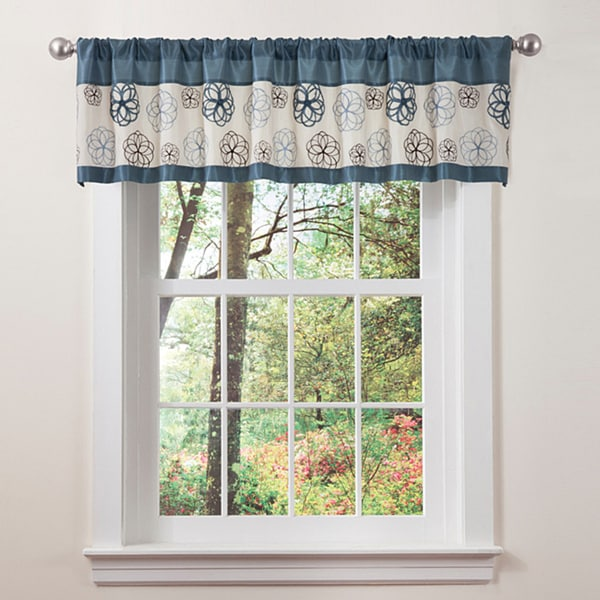 Lush Decor Blue/ Brown Covina Valance