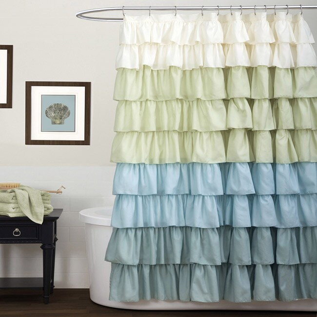Shop Lush Decor Multi Ruffle Shower Curtain - Free Shipping On ...