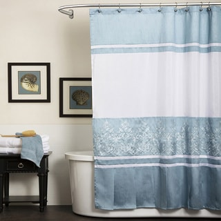Lush Decor Charlotte Blue Shower Curtain