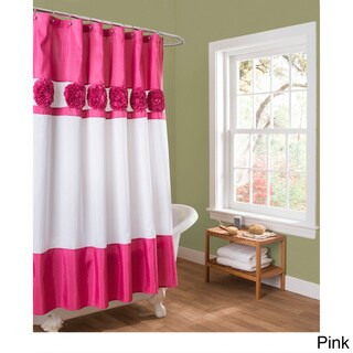 Pink Shower Curtains Overstock Com Vibrant Fabric Bath