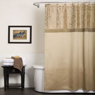 Lush Decor Serengeti Tan Shower Curtain