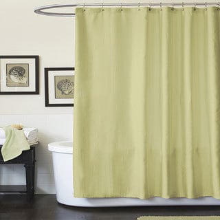Lush Decor Channel Green Shower Curtain