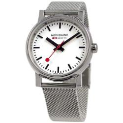 Mondaine Men's 'Evo Basic' Stainless Steel Mesh Bracelet Watch