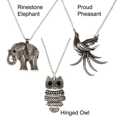 Handmade Silvertone Rhinestone Antique Necklace (Thailand)