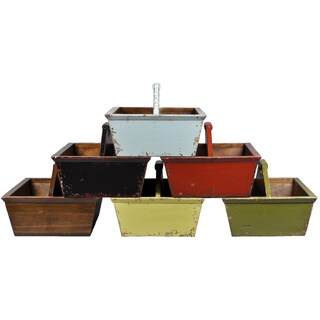 Rustic Open Wood Caddy