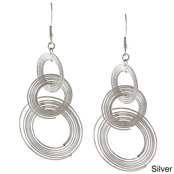 Inox Stainless Steel Interconnected Swirl Earrings