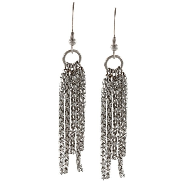 Inox Stainless Steel Popcorn Chain Earrings