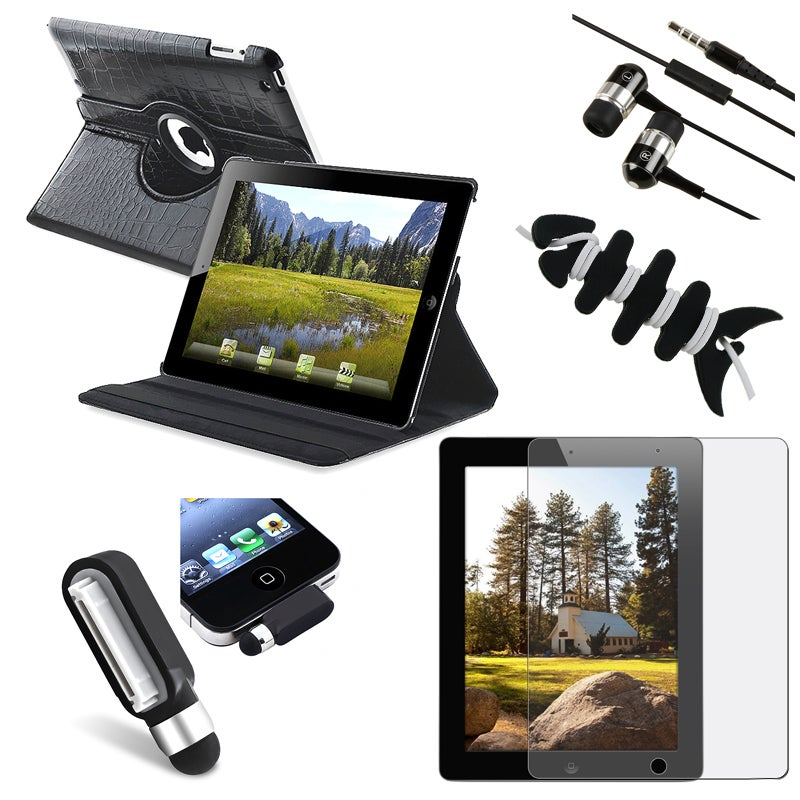 Leather Case/ Screen Protector/ Stylus/ Headset/ Wrap for Apple iPad 2