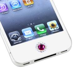 INSTEN Peel-and-Stick Purple Diamond Home Button Sticker for Apple iPhone/ iPad/ iPod touch - Thumbnail 1