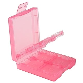 Insten Light Coral 16-in-1 Game Card Case for Nintendo DS Lite