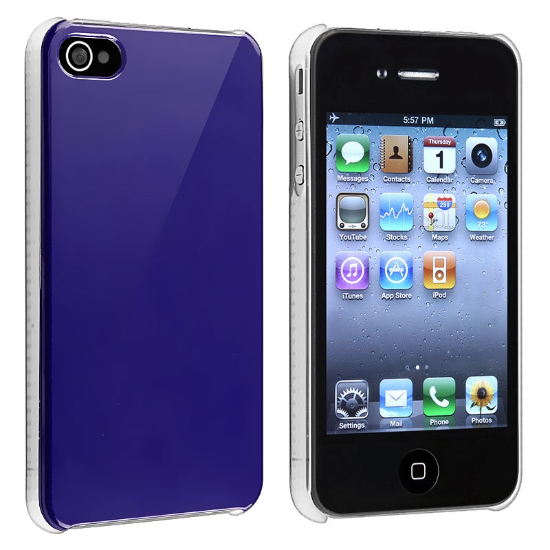 Shiny Blue Snap-on Case for Apple iPhone 4/ 4S - Thumbnail 0