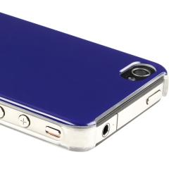 Shiny Blue Snap-on Case for Apple iPhone 4/ 4S - Thumbnail 1
