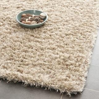 Safavieh Hand-tufted Malibu Shag Natural Polyester Rug (2'3 x 9')