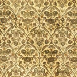 Safavieh Handmade Treasured Gold Wool Rug (7'6 x 9'6 Oval) - Thumbnail 2