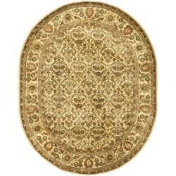 Safavieh Handmade Treasured Gold Wool Rug - 7'6 x 9'6 Oval - Thumbnail 0