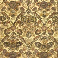 Safavieh Handmade Treasured Gold Wool Rug (4' x 6') - Thumbnail 2
