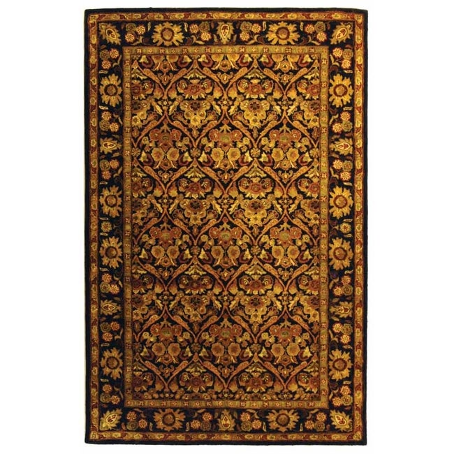 Safavieh Handmade Treasured Dark Plum/ Gold Wool Rug - 8'3 x 11'