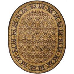 Safavieh Handmade Treasured Dark Plum/ Gold Wool Rug (4'6 x 6'6 Oval)
