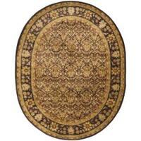 "Safavieh Handmade Treasured Dark Plum/ Gold Wool Rug - 4'6"" x 6'6"" oval"