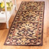 """Safavieh Handmade Treasured Dark Plum/ Gold Wool Rug - 2'3"""" x 8'"""