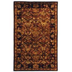 Safavieh Handmade Treasured Dark Plum/ Gold Wool Rug (2'3 x 4')