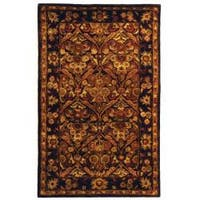 Safavieh Handmade Treasured Dark Plum/ Gold Wool Rug - 2'3 x 4'