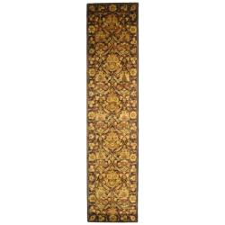 Safavieh Handmade Treasured Dark Plum/ Gold Wool Rug (2'3 x 12')