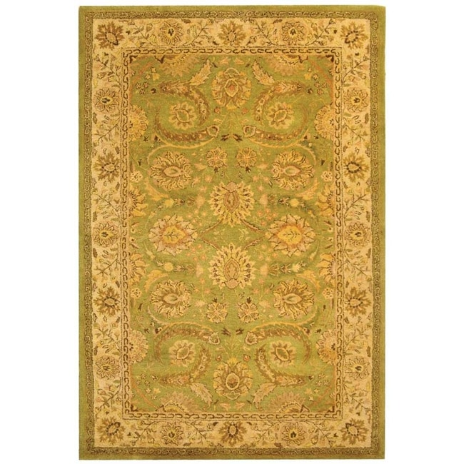 Safavieh Handmade Old World Light Green/ Ivory Wool Rug - 7'6 x 9'6