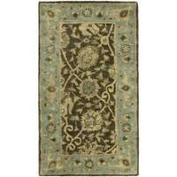 Safavieh Handmade Mashad Brown/ Green Wool Rug - 2'3 x 4'