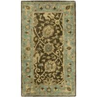 "Safavieh Handmade Mashad Brown/ Green Wool Rug - 2'3"" x 4'"
