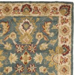 Safavieh Handmade Jaipur Blue/ Beige Wool Rug (2'3 x 12') - Thumbnail 1