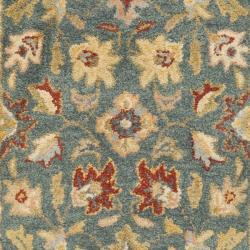 Safavieh Handmade Jaipur Blue/ Beige Wool Rug (2'3 x 12') - Thumbnail 2