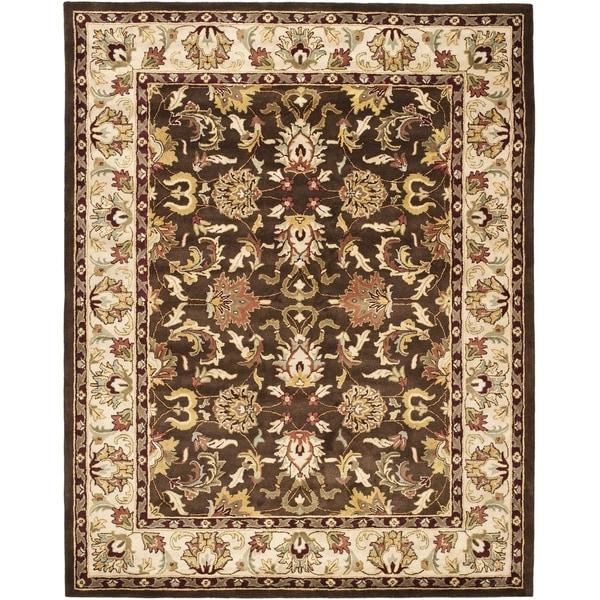 Safavieh Handmade Heritage Timeless Traditional Brown/ Beige Wool Rug - 8'3 x 11'