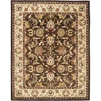 Safavieh Handmade Heritage Timeless Traditional Brown/ Beige Wool Rug - 9'6 x 13'6