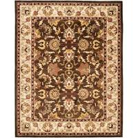 "Safavieh Handmade Heritage Timeless Traditional Brown/ Beige Wool Rug - 9'-6"" X 13'-6"""