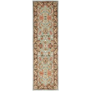 Safavieh Handmade Heritage Loren Traditional Oriental Wool Rug (23 x 20 Runner - Blue/Brown)