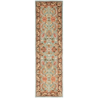 Safavieh Handmade Heritage Loren Traditional Oriental Wool Rug (23 x 22 Runner - Blue/Brown)