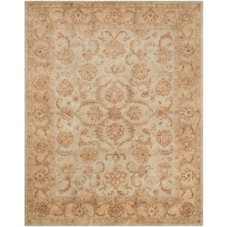 Safavieh Handmade Heritage Timeless Traditional Green/ Gold Wool Rug (9' x 12')