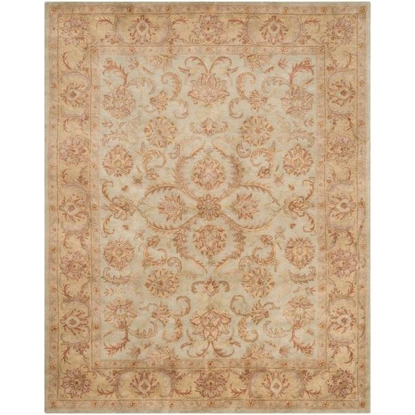 Safavieh Handmade Heritage Timeless Traditional Green/ Gold Wool Rug - 9' x 12'