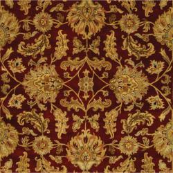 Safavieh Handmade Heritage Traditional Kashan Burgundy/ Black Wool Rug (9' x 12') - Thumbnail 1