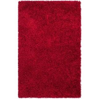 "Safavieh Handmade Monterey Shag Red Polyester Rug - 2'-6"" x 4'"